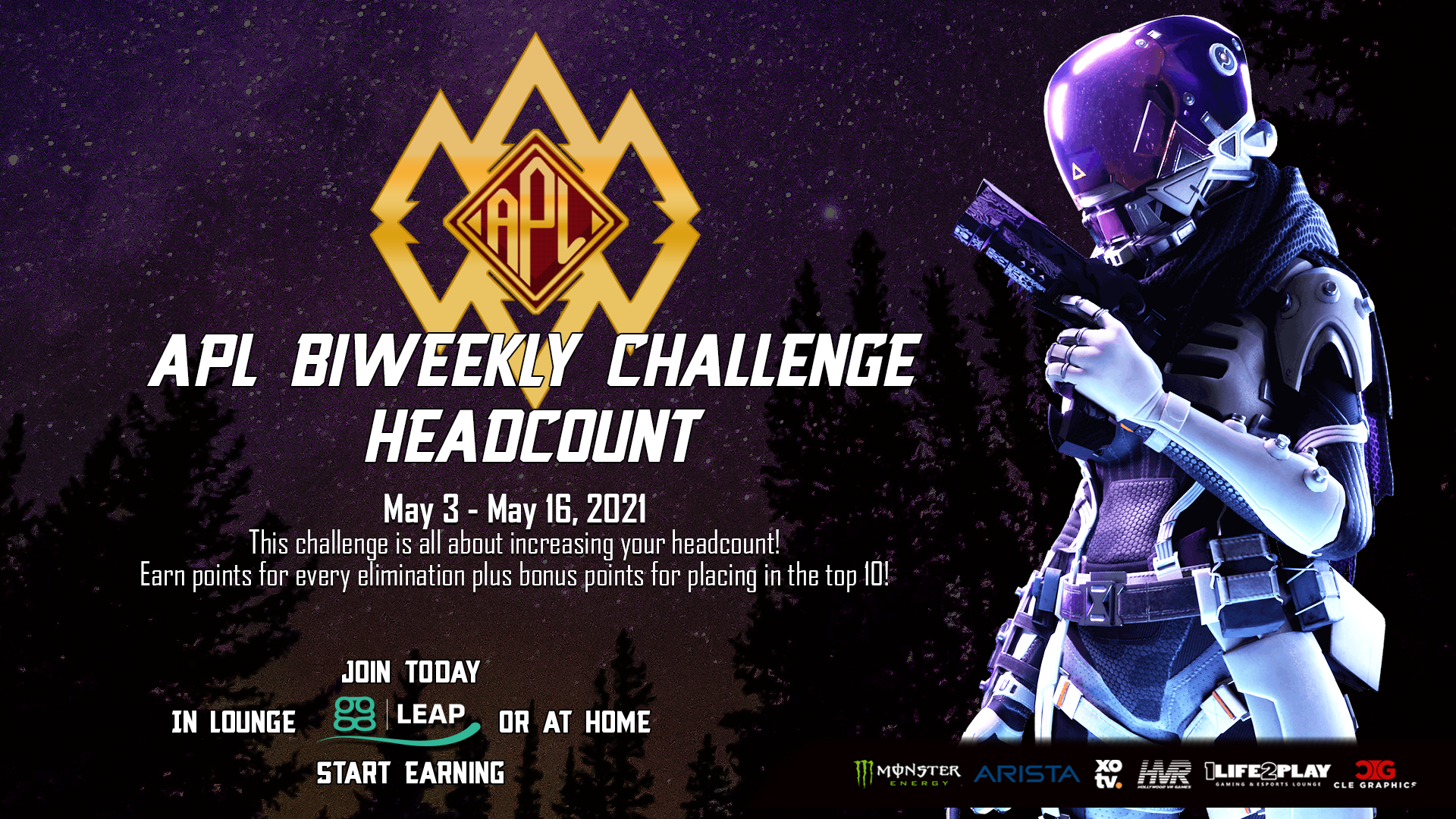 - APL Biweekly Challenge Headcount 4 - Apex Predator League presented by 1Life2Play fueled by Monster Energy