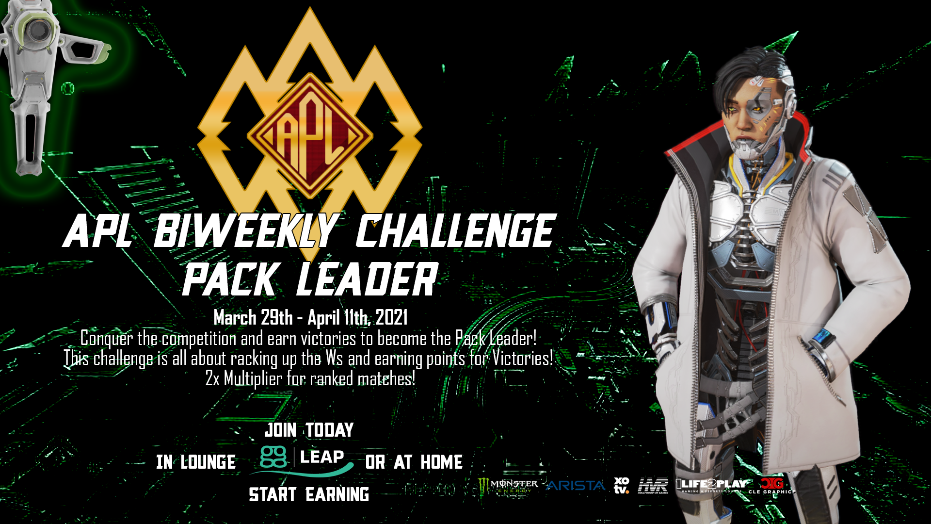 - APL Biweekly Challenge Pack Leader 3 - Apex Predator League presented by 1Life2Play fueled by Monster Energy