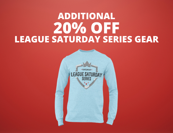 - Additional 20 off league saturday series gear - Shop 1Life2Play