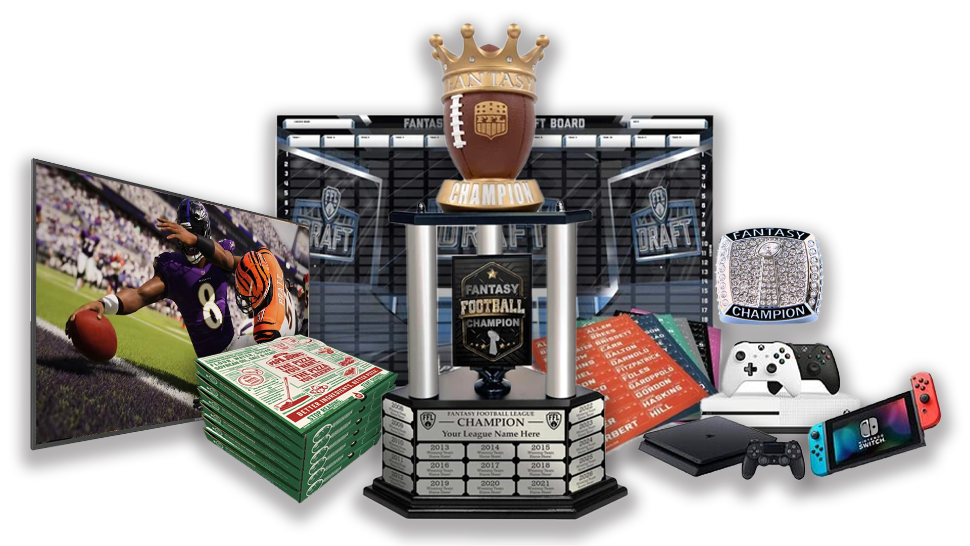 - FFDraft Trophy 2 Pizza - Fantasy Football Draft Parties at 1Life2Play
