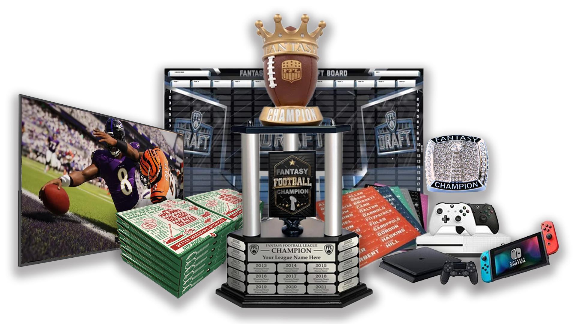 - FFDraft Trophy 2 Pizza2 - Fantasy Football Draft Parties at 1Life2Play