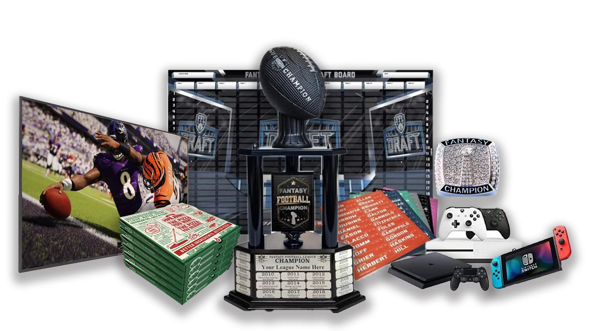 - FFDraft Trophy 3 Black Pizza - Fantasy Football Draft Parties at 1Life2Play