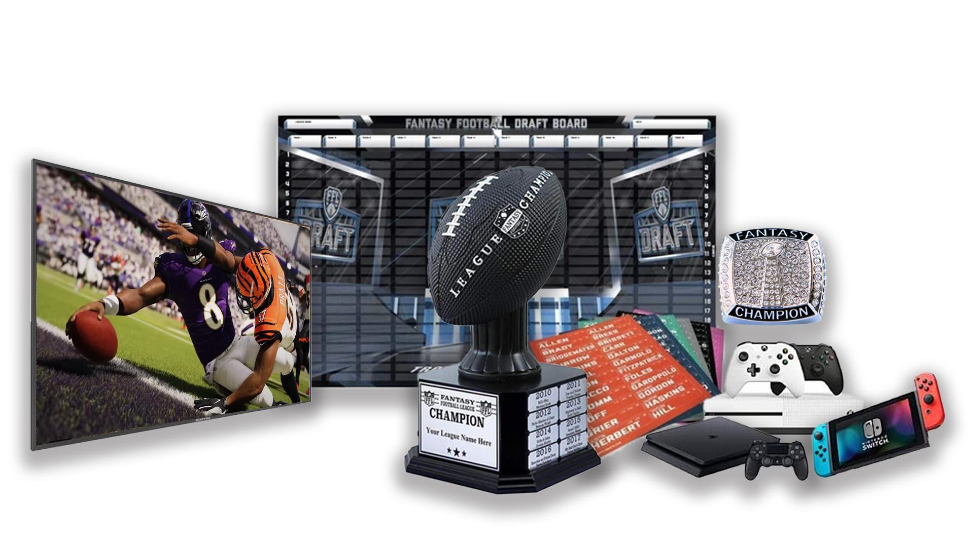 - FFDraft Trophy Black - Fantasy Football Draft Parties at 1Life2Play