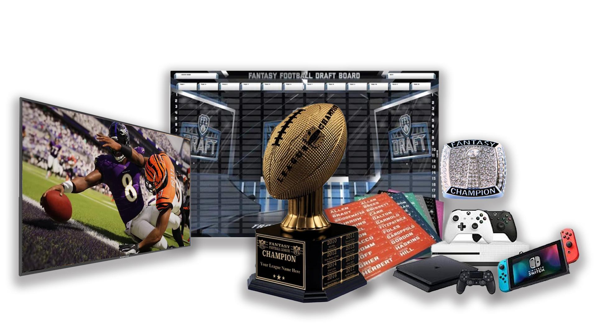 - FFDraft Trophy Gold - Fantasy Football Draft Parties at 1Life2Play